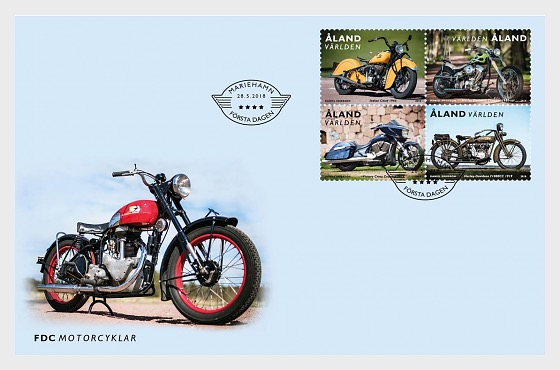 Motorcycles - First Day Cover