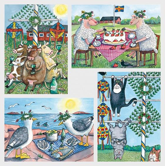 Celebrazioni di Mezza Estate - Cartolina