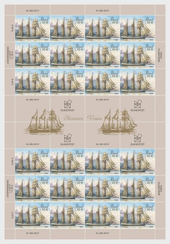 Sailing Ships - Vineta Sheet - Full sheets