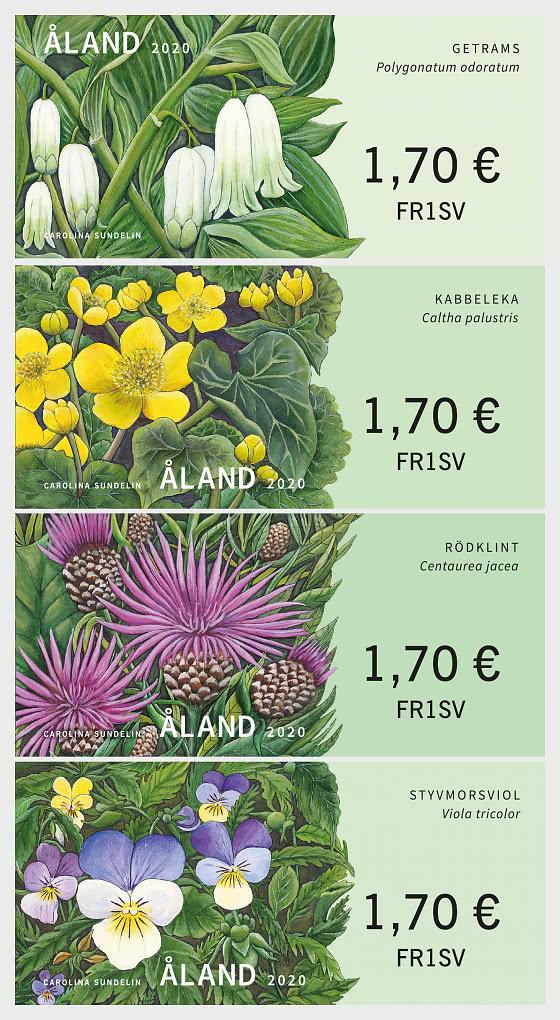 2020 Franking Labels - Wild Flowers - Set