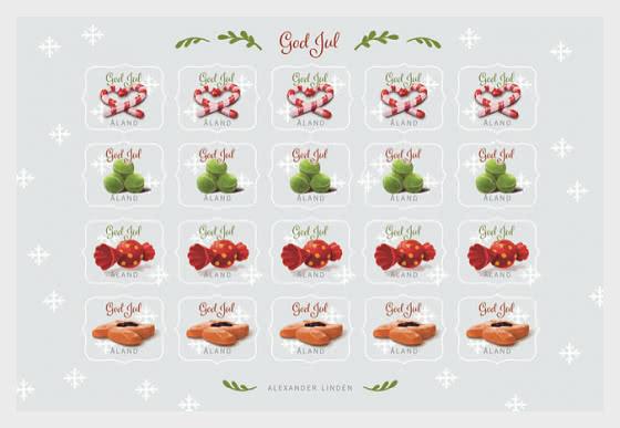 Sceaux de Noël 2020 - Feuilles entières