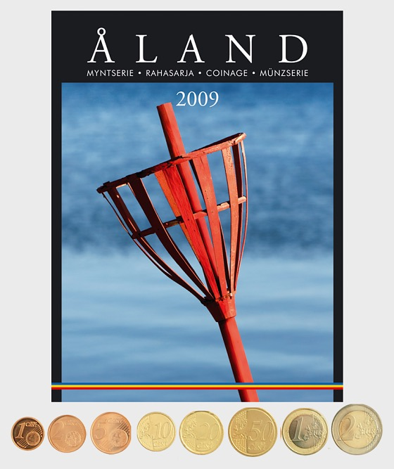 Finland 2009 coins (by Aland) - Coin Year Set