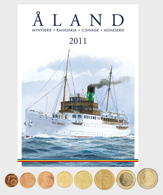 Finland 2011 coins (by Aland) - Coin Year Set