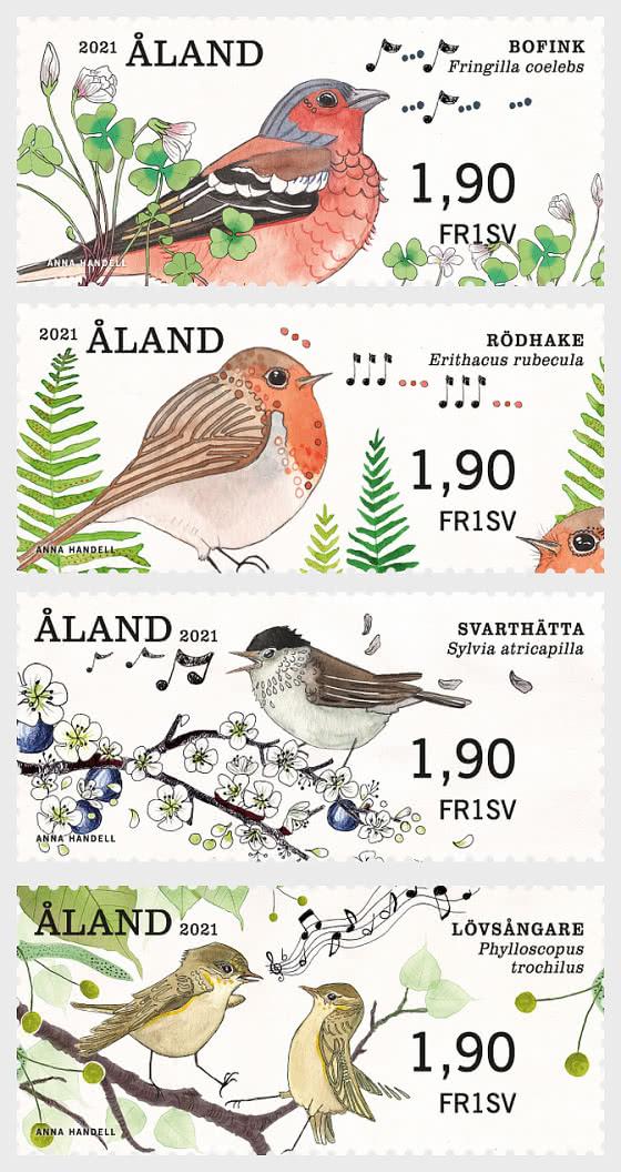 Franking Labels - Songbirds - Set