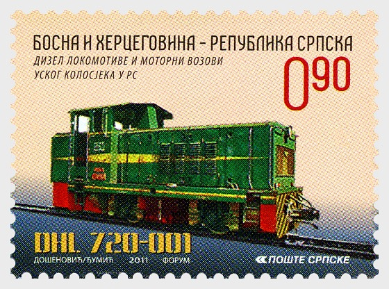 Diesel Locomotives and Engine Trains of Narrow Gauge in RS - 720 - Set