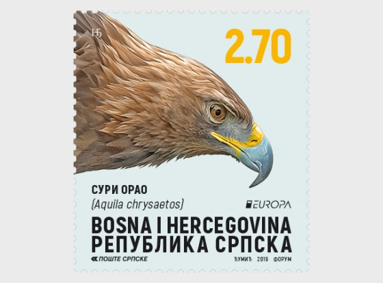 Europa 2019 - National Birds - Golden Eagle - Set