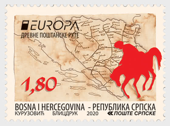 Europa 2020 - Ancient Postal Routes -  The Tatar - Set