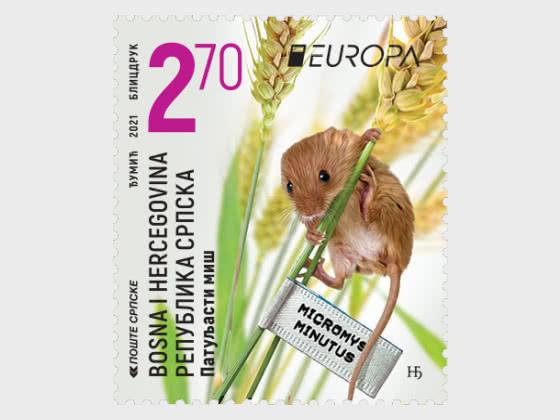 Europa 2021 - Endangered National Wildlife - The Harvest Mouse - Set