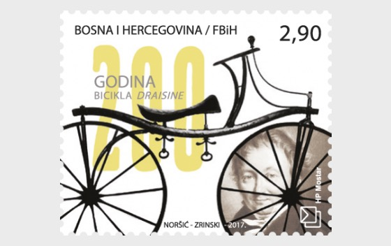 200th Anniversary of the Draisine Bicycle - Set