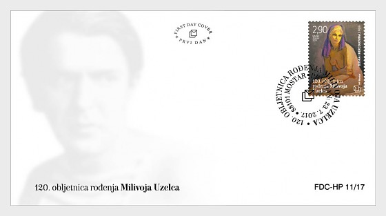 120th Birth Anniversary of Milivoj Uzelac - First Day Cover