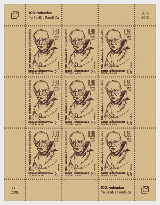 2018 Friar Bazilije Pandzic's 100th Birthday - Sheetlets
