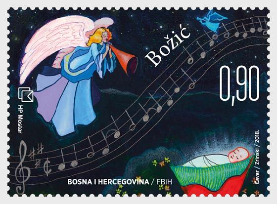 Christmas 2018 and New Year - (Christmas Stamp) - Set