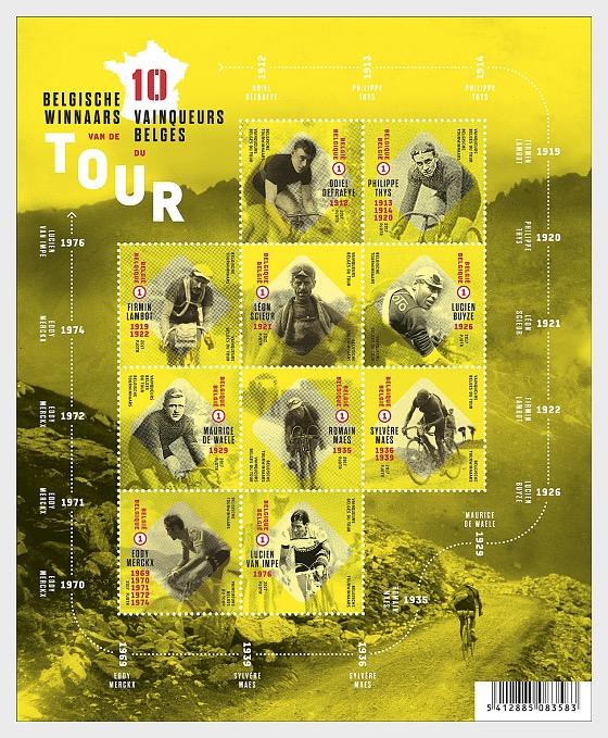 Belgian Tour Winners - Miniature Sheet