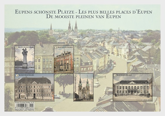 Marketplaces in Eupen - Miniature Sheet