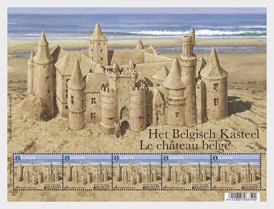 Europa 2017 - Belgian Castles - Sheetlets