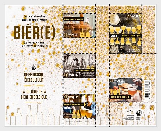 Cultura de la Cerveza Belga - Hojas Bloque