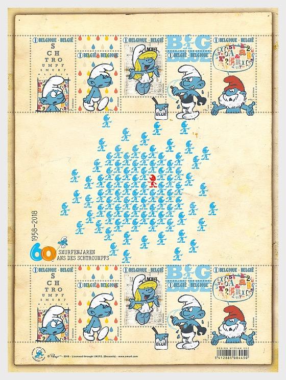 60 Años Smurf - Hojas Bloque