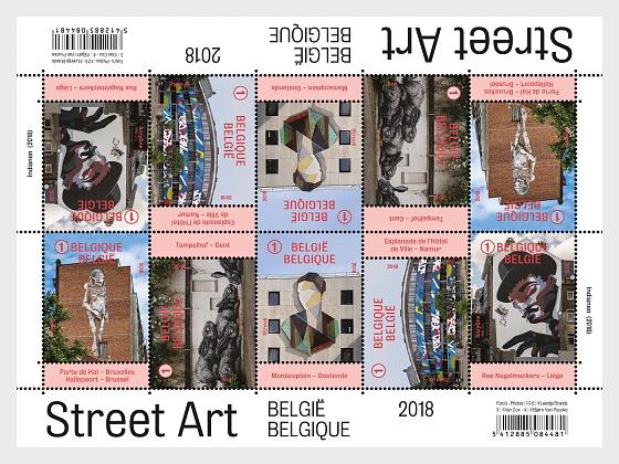 Street Art 2018 - Miniature Sheet