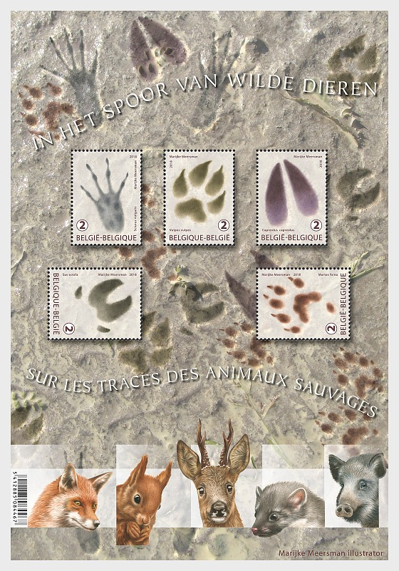 Traces of Animals - Miniature Sheet