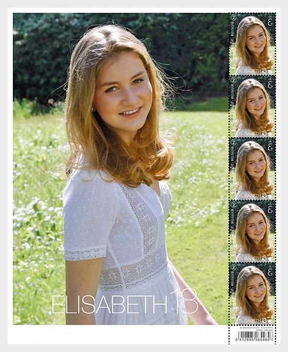 Princess Elisabeth 18-2019 - Sheetlets