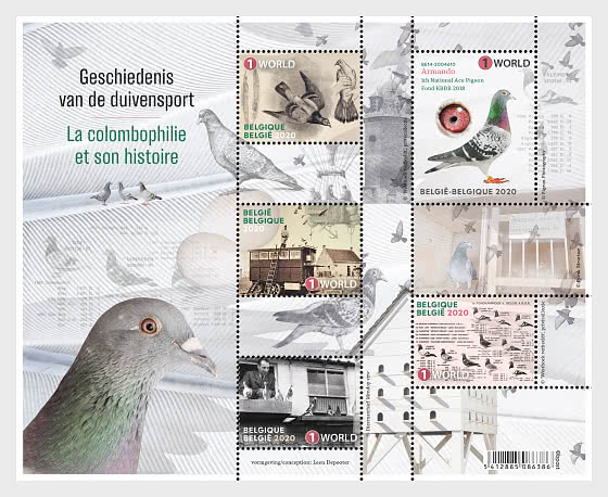 Winning Belgium - The History of Pigeon Racing - Miniature Sheet