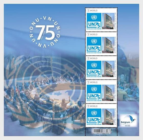 75 Anni di Nazioni Unite - Minifogli