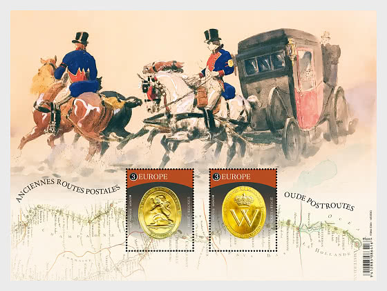 Europa 2020 - Old Mail Routes - Miniature Sheet