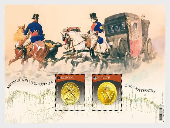 Europa 2020 - Alte Postwege - Sonderblock