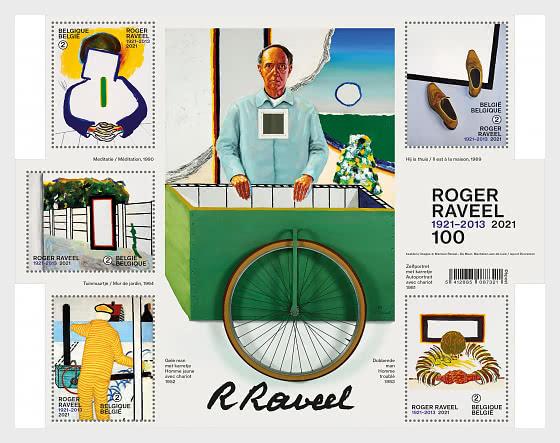 Roger Raveel 100 - Hojas Bloque