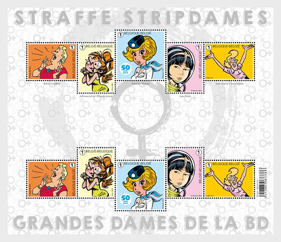 Leading Ladies in Comic Books - Miniature Sheet