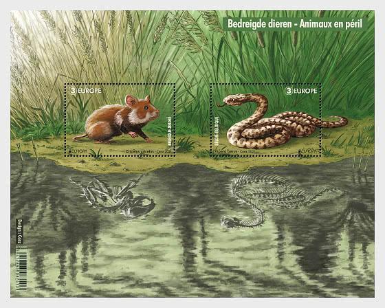Europa 2021 - Fauna Selvatica In Via Di Estinzione - Foglietti