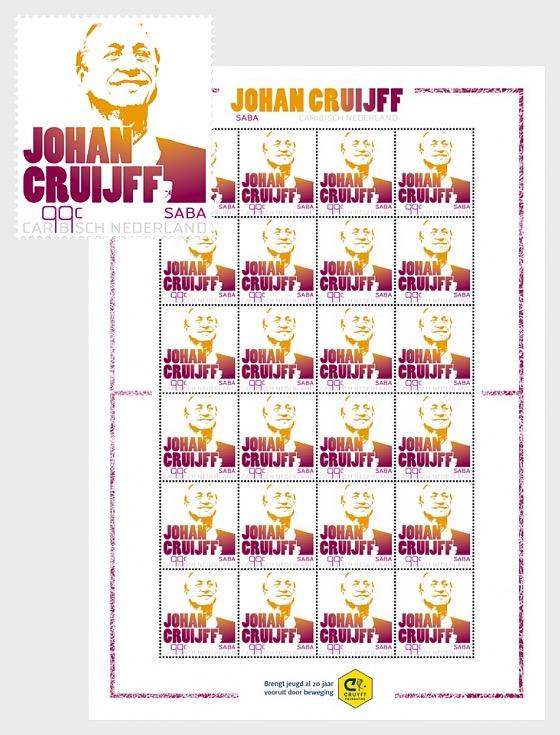 Johan Cruijff- (Saba) - Sheetlets