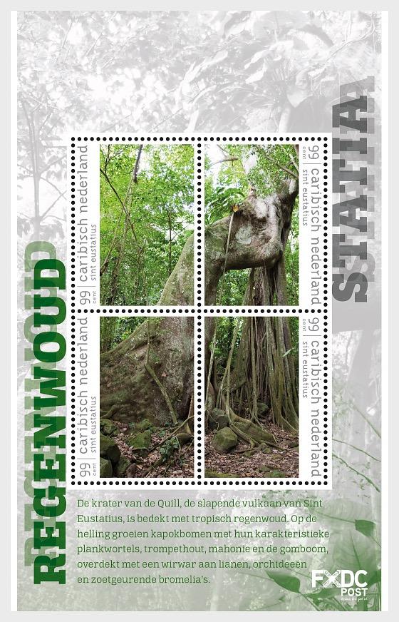 Forêt Tropicale - (St. Eustatius) - Blocs feuillets