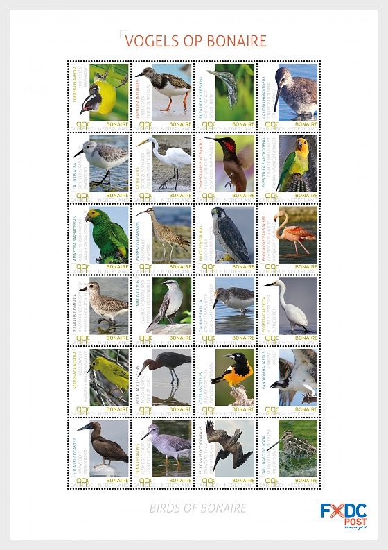 2018 Birds on Bonaire - Miniature Sheet
