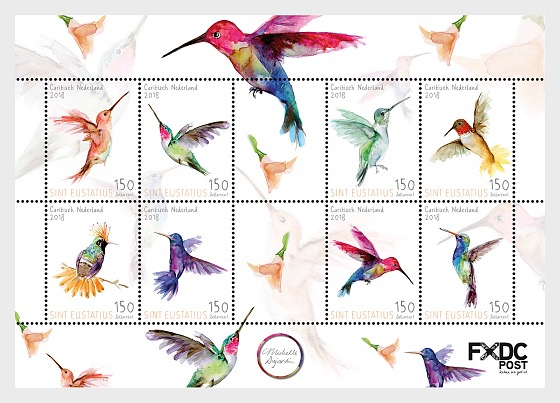 Humming Birds (St. Eustatius) - Miniature Sheet