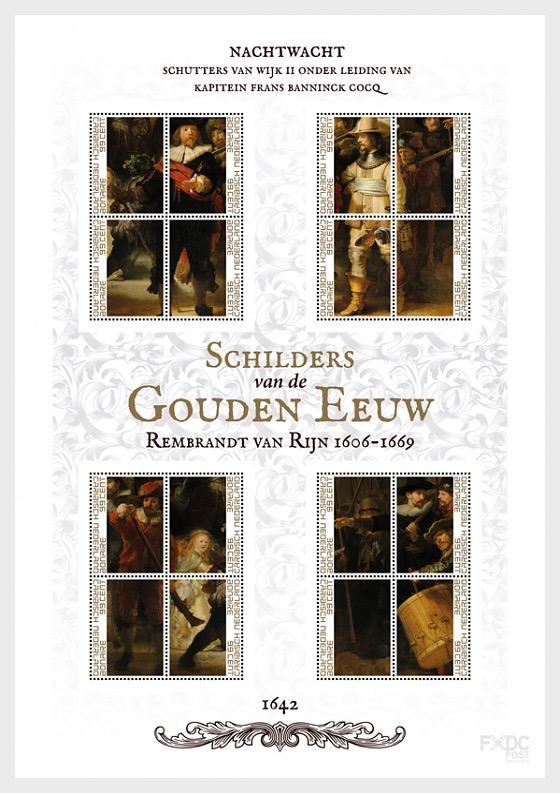 伦勃朗和荷兰的黄金时代 - 守夜人 - 小版张