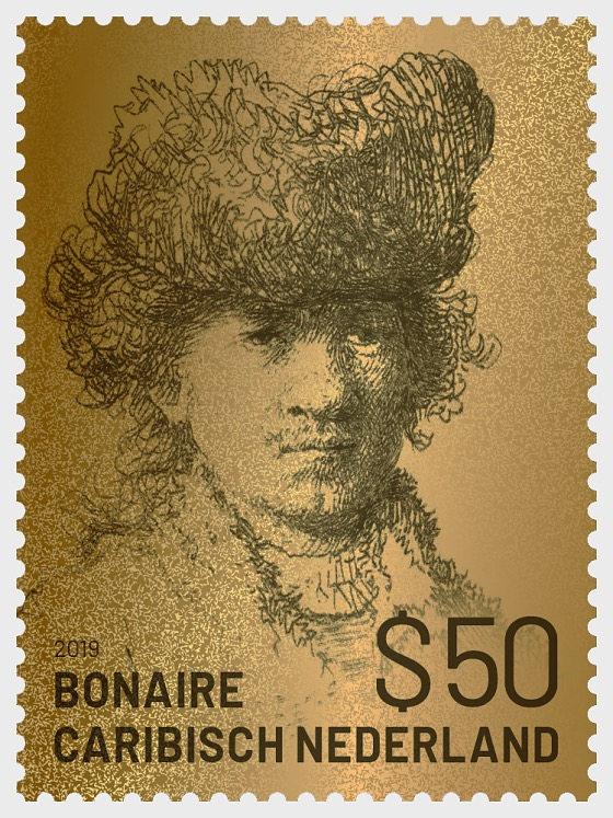 Golden Stamp of Rembrandt of Bonaire - Collectibles
