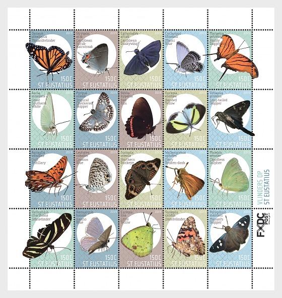 Butterflies (St. Eustatius) - Miniature Sheet