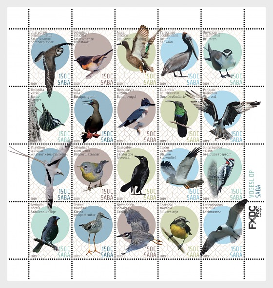 Birds (Saba) - Miniature Sheet