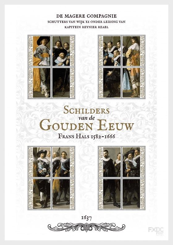 St. Eustatius - Dutch painters of Golden Age, 'De Magere Compagnie' of Frans Hals - Miniature Sheet