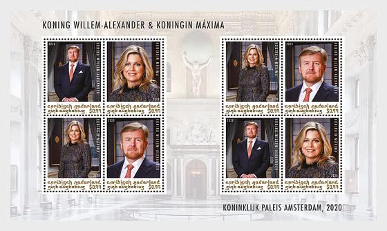 St. Eustatius - King Willem-Alexander & Queen Maxima - Sheetlets