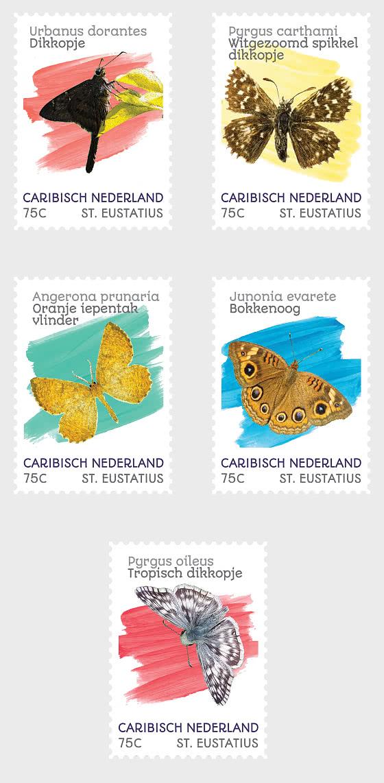 Butterflies (St. Eustatius) - Set