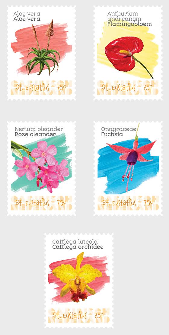 Flowers  (St. Eustatius) - Set
