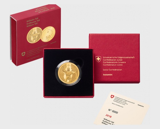 William Tell, AU proof - Gold Coin