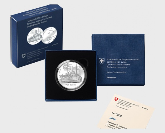 SS La Suisse, AG proof - Silver Coin
