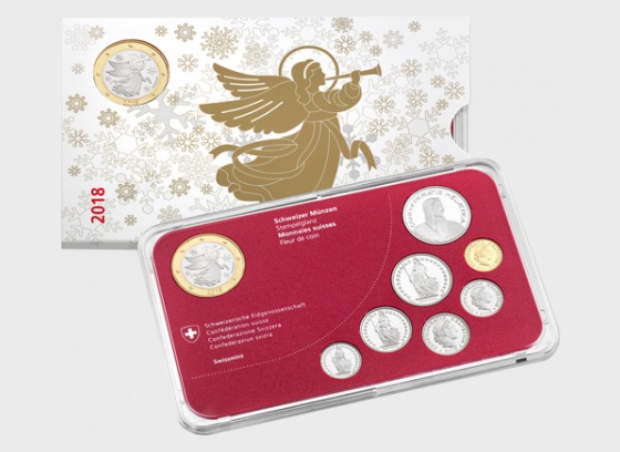 Christmas Coin Set 2018 with Medal - Brilliant Uncirculated - Commemorative