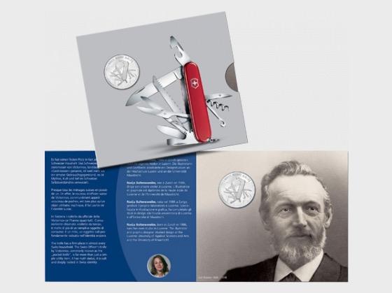 Swiss Army Knife - Folder - Silver Coin
