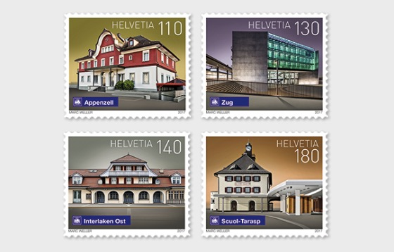 Swiss Railway Stations - (Set Mint) - Set