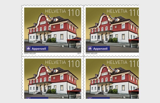 Swiss Railway Stations - (Appenzell Sheetlet Mint) - Sheetlets