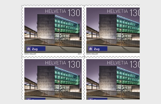 Swiss Railway Stations - (Zug Sheetlet Mint) - Sheetlets